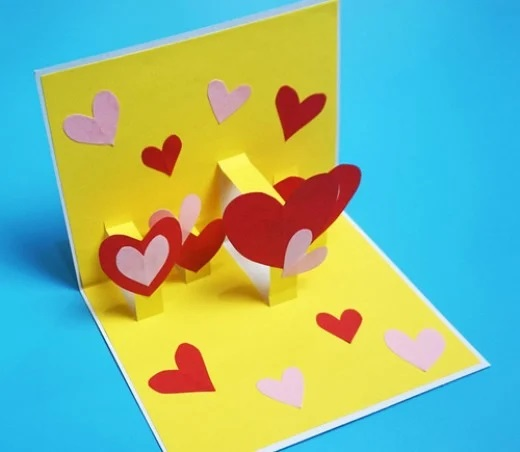 Red Heart Handmade Popup Card