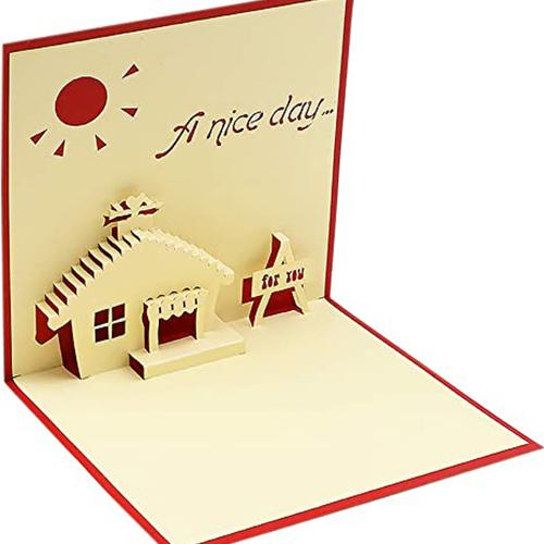 Sober House Handmade Popup Card
