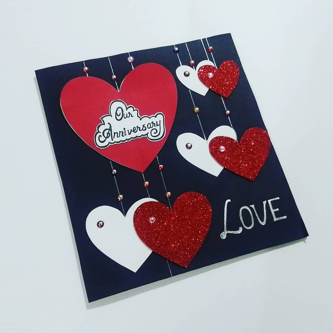 Anniversary Card - Happy Anniversary Handmade Cards Online