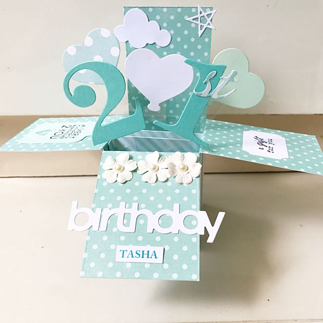 Sky Birthday Handmade Popup Card